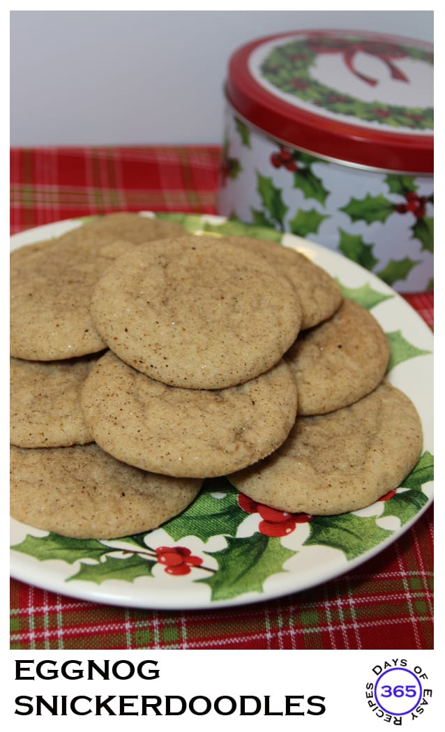 Eggnog Snickerdoodles 12 Days Of Easy Christmas Cookies
