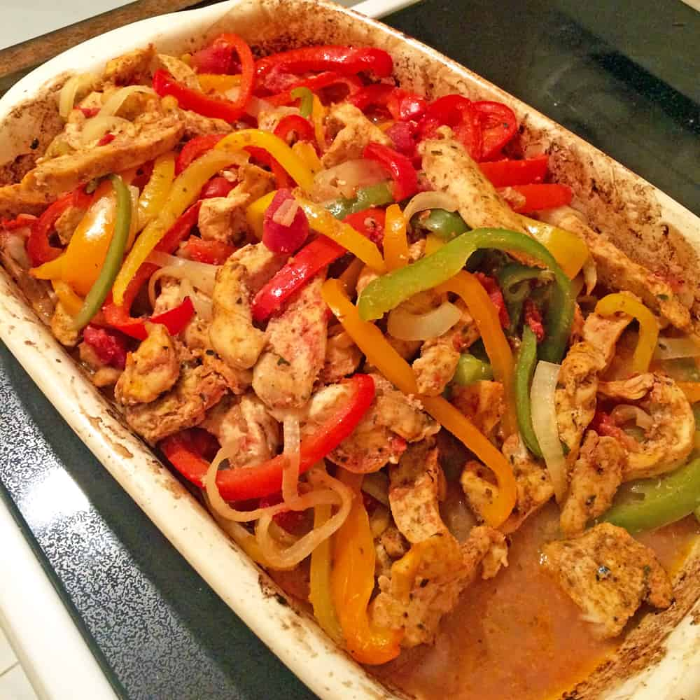 Oven baked chicken fajitas 365 days of easy recipes - Easy oven dinner ...