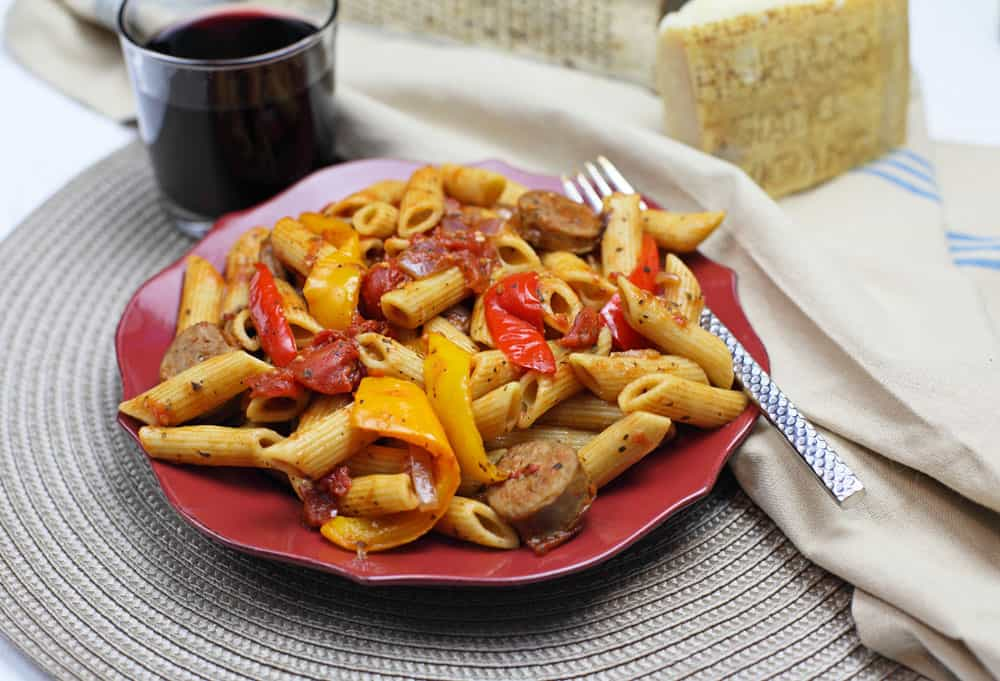 Sausage Peppers Amp Onions Pasta 365 Days Of Easy Recipes